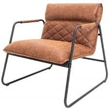 casa padrino retro lounge sessel vintage hellbraun schwarz 71 x 72 x h 79 cm kunstleder sessel mit metallgestell wohnzimmer möbel