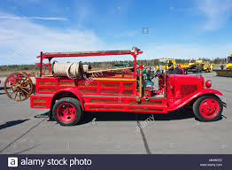 1932 Ford Firetruck On Display, Lappeenranta Finland Stock Photo ...
