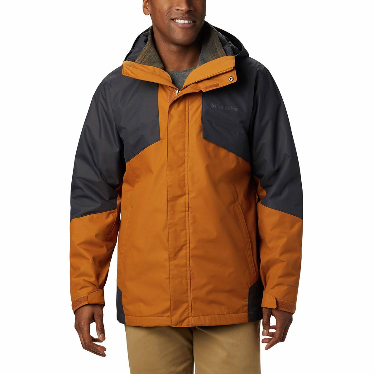Columbia Men's Bugaboo II Fleece Interchange Jacket - Small - Burnished Amber/Shark