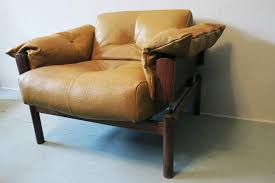 brazilian lounge chair by percival lafer in rosewood and textured