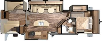 Travel Trailer Floor Plans Rear Kitchen by 2016 Mesa Ridge Travel Trailers Mr310bhs By Highland Ridge Rv