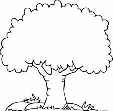 A Shady Oak Tree Coloring Page