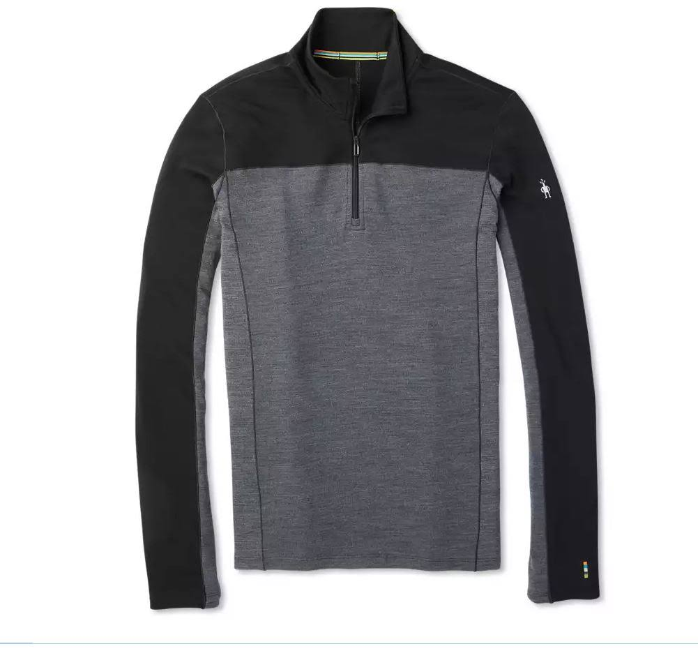 Smartwool Men's Merino Sport 250 Long Sleeve 1/4 Zip - Large, Black