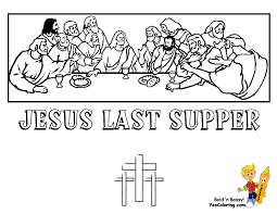 The Last Supper Coloring Page To Print At YesColoring