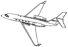 Download Coloring Pages Airplane Page All Drawing