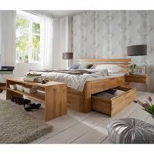 schlafzimmermöbel set aus kernbuche massivholz bettbank 4 teilig