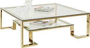 kare design gold couchtisch 120 x 120 cm couchtisch edel glascouchtisch couchtisch retro h b t 40x120x120cm