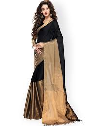 black saree black designer sarees online best price myntra