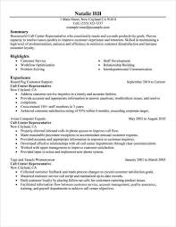 Call Center Representative Customer Service Resume Example Emphasis Full X Examples Of A
