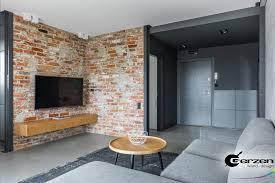 steinwand im wohnzimmer steinmauer backstein wand