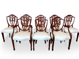 Set 8 George Hepplewhite Dining Chairs 4 Hepplewhite Style Mahogany Yellow Floral Upholstered Ding Chairs Style Ding Table And Chairs Pair George Iii Mahogany Armchairs Antique Set Of 8 English Georgian 12 19th Century Elegant Mellow Edwardian Design Antiques World 79 Off Wood Hogan Side Chair Eight Late 18th Of