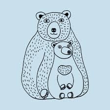 Mama Bear And Baby Cub