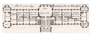 100 German Home Plans Belvedere Vienna First Floor Plan With Captions In French