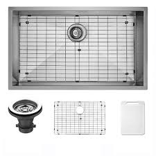 Stainless Steel Sink Grid 24 X 12 by Vigo Undermount 30 In Single Bowl Kitchen Sink With Grid And