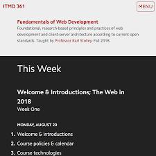 ITMD 361 Fundamentals Of Web Development