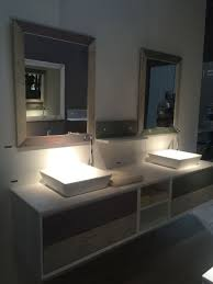 Elegant Reclaimed Wood Bathroom Shelf Storage Unit Chestnut Finish