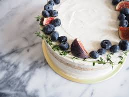 Specks Of Earl Grey Throughout The Cake Sponge And Cream With Lemon Curd Sandwiched Between Layers Adorned A Ring Blueberries Figs
