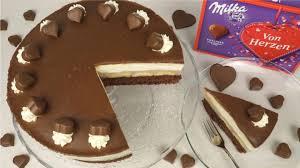 milka herz torte dankeschön evasbackparty