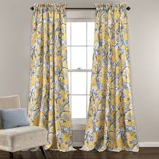 Yellow And White Curtains Canada by Curtains U0026 Drapes Birch Lane