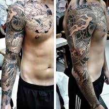 Manly Full Sleeve Guys Chinese Dragon Tattoo