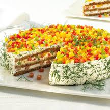 herzhafte schwarzbrot frischkäse torte
