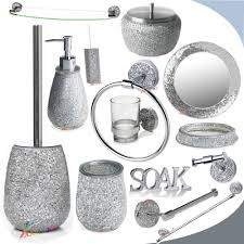 Bella Lux Crystal Bathroom Accessories by Bathroom Accessories Set Bessie Savannah 4piece Bathroom