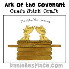 Ark Of The Covenant Craft Stick Bible For Preschool Children From Daniellesplace