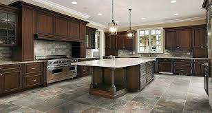 Kitchen Floor Tile With Oak Cabinets Ideas Unique Dark