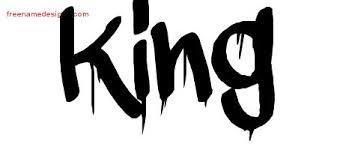 Graffiti Name Tattoo Designs King Free