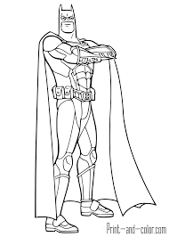 Batman The Dark Knight Coloring Page