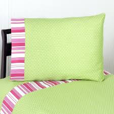 Pink And Lime Green Duvet Cover Dottie Stripe Pink Green Quilt Set
