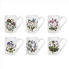Spode Christmas Tree Mug And Coaster Set by Amazon Com Portmeirion Botanic Garden Breakfast Mugs Set Of 6