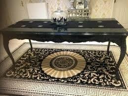 barockstuhl grau silber modern esszimmer barock lounge repro