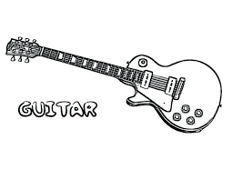 Bass Guitar Coloring Pages Electric Is A Musical Instruments Bulk Color