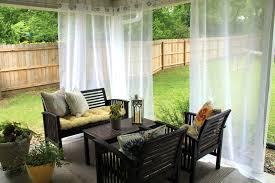 patio ideas outdoor drapes for with white curtain color and