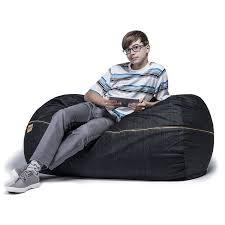 King Fuf Bean Bag Chair by Amazon Com Jaxx Sofa Saxx 4 Foot Bean Bag Lounger Dark Denim