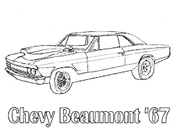 Coloring Cars Chevy Beaumont 1967