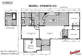 Fleetwood Triple Wide Mobile Home Floor Plans by Sunshine Homes