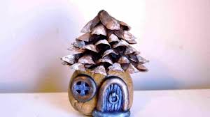 Pine Cone Christmas Tree Tutorial by Diy Pine Cone Roof Fairy House Tutorial Youtube