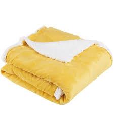 jet de canap jaune plaid couvre lit jeté de canapé bi matière actuel pas cher à prix