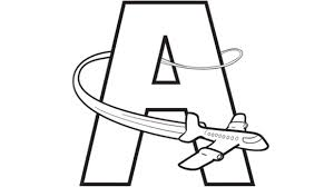 A Is For Airplane Help Your Grandkids Practice The Alphabet With This Free Printable Coloring Page
