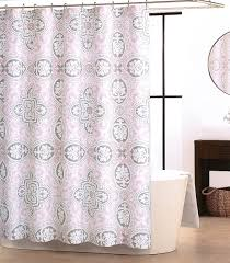 Tahari Curtains Home Goods by Tahari Home Pale Pink Royal Tile Rosette Luxury Fabric Shower