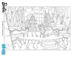 Barbies Christmas Show Coloring Pages