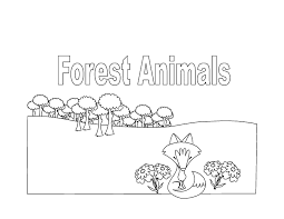 Forest Animals Coloring Book 8 Pages