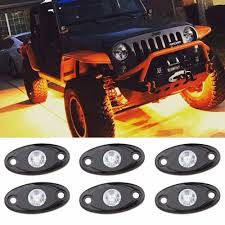 Amber LED Rock Light Kits With 6 Pods Lights For Boat 4X4 Off Road ... New 2018 Roush F150 Grill Light Kit Offroad Ford Truck 18 Amazoncom Led Bar Ledkingdomus 4x 27w 4 Pod Flood Rock Lights Off Road For Trucks Opt7 Hid Lighting Cars Motorcycles 18watt Vehicle Work Torchstar Buggies Winches Bars 2013 Sema Week Ep 3 Youtube Shop Blue Hat Remotecontrolled Safari With Solicht Free Shipping 55 Inch 45w Driving Offroad Lights Spot Flood 60w Cree Spot Lamp Combo 12v 24v Amber Kits 6 Pods Boat 4x4 Osram Quad Row 22 20 Inch 1664w Road