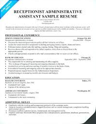 Resume Example Administrative Assistant Canada