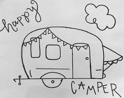 FREE HAPPY CAMPER CHALKBOARD STENCIL TUTORIAL