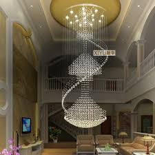 Get Quotations 80240 Cm Modern Living Room Chandelier Round Crystal Lamp Double Staircase In The