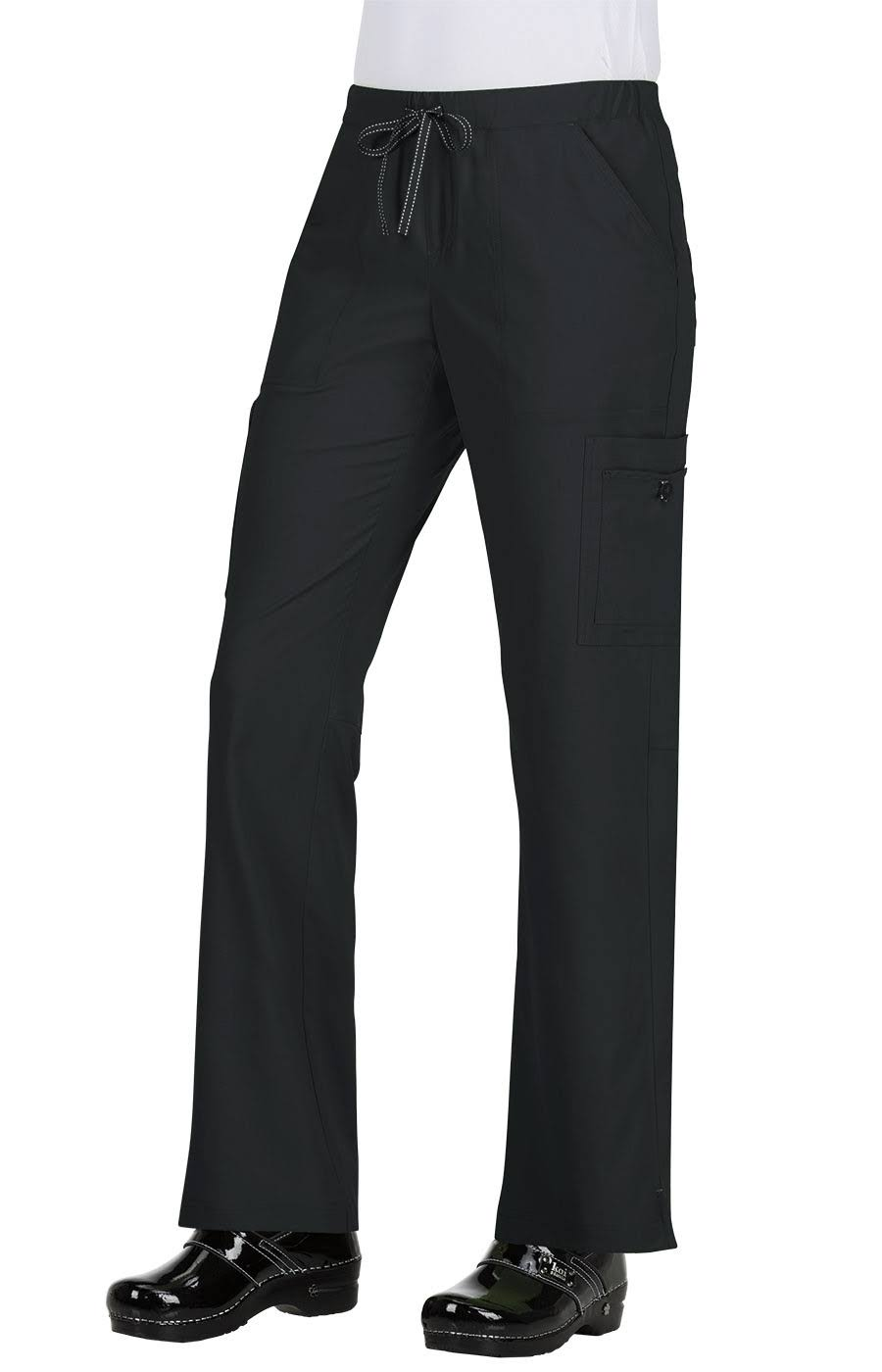 Koi Basics Women's Holly Cargo Scrub Pants - 2x - Black
