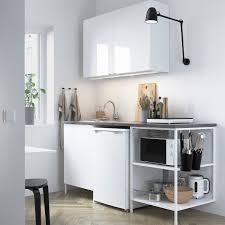enhet küche weiß hochglanz weiß 183x63 5x222 cm